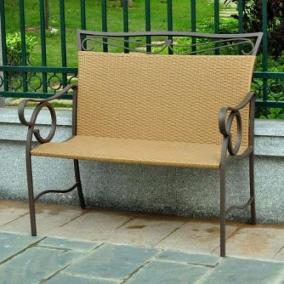 Valencia Resin Wicker Settee in Honey - 4118-LS-HY