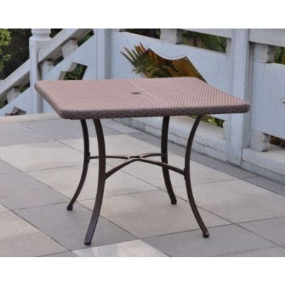 Barcelona Wicker 39'' Square Dining Table in Light Brown - 4206-SQ-ABN