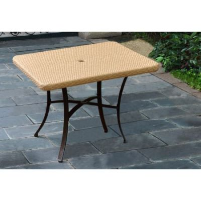 Barcelona Resin Wicker 39'' Square Dining Table in Honey - 4206-SQ-HY