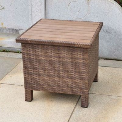 Barcelona Resin Side Table in Antique Brown - 4252-ST-ABN