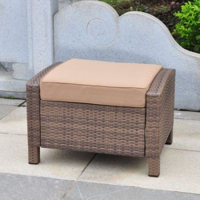 Barcelona Resin Ottoman in Antique Brown - 4253-OTT-ABN-CF