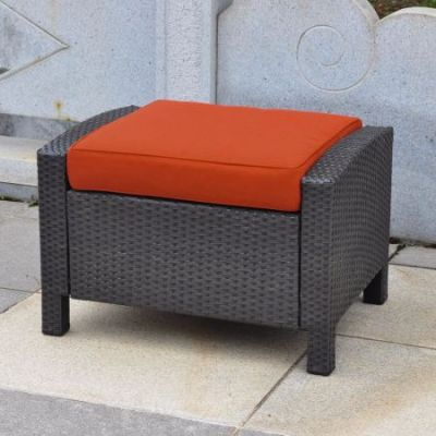Barcelona Resin Ottoman in Black Antique - 4253-OTT-BKA-SP