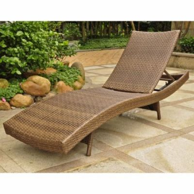 Barcelona Resin Chaise Lounge in Antique Brown - 4254-ABN