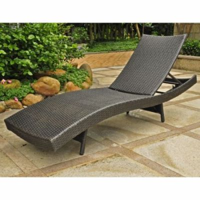 Barcelona Resin Chaise Lounge in Black Antique - 4254-BKA