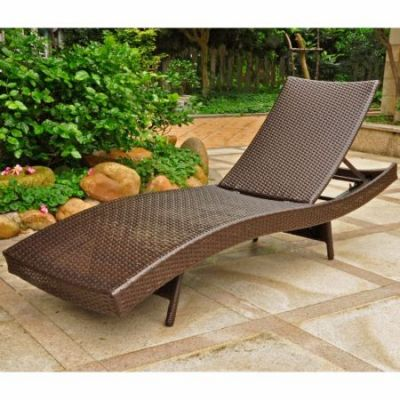 Barcelona Resin Chaise Lounge in Chocolate - 4254-CH