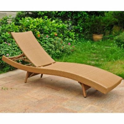 Barcelona Resin Chaise Lounge in Honey - 4254-HY