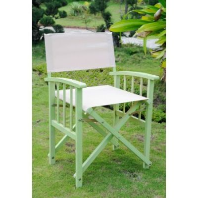 Set of 2 Directors Chair with Arms in Mint Green/Khaki - FA-080A-2CH-MGN-KH
