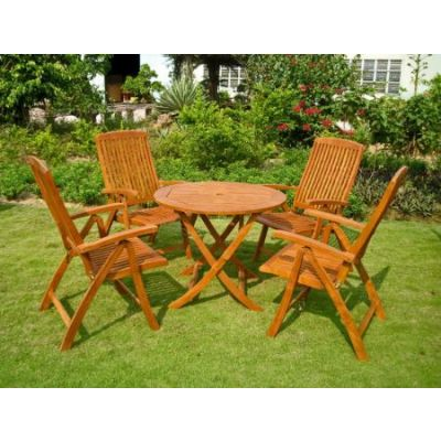 Royal Tahiti Cartagena 5-Piece Dining Set in Stain - RT-029-PC-041-4CH