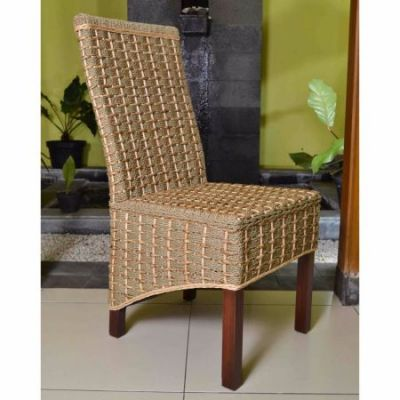 Bayu Banana & Seagrass Dining Chair in Brown Mahogany - SG-3301-1CH