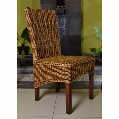 Gaby Woven Banana Dining Chair in Brown Mahogany - SG-3302-1CH
