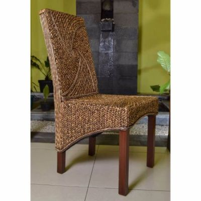Lambada Hyacinth Spiral Design Chair in Salak Brown - SG-3305-1CH