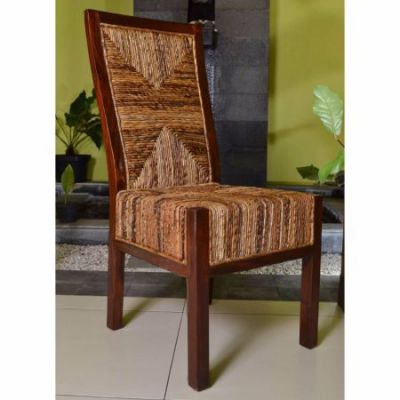 Dallas Abaca Weave Dining Chair in Brown Mahogany - SG-3306-1CH