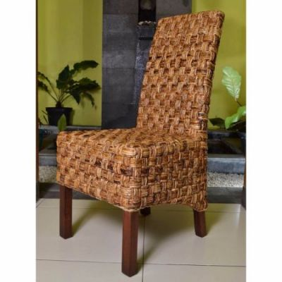 Victor Woven Abaca Dining Chair in Salak Brown - SG-3309-1CH