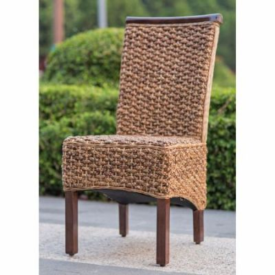 Bunga Hyacinth Dining Chair (Set of 2) in Salak Brown - SG-3310-2CH