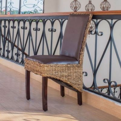 Salma Abaca Dining Chair in Salak Brown - SG-3331-1CH