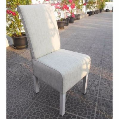 Philip Upholstered Dining Chair in White Wash - SG-3340-1CH