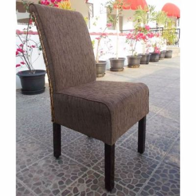 Philip Upholstered Dining Chair with Mahogany Frame in Brown - SG-3341-1CH
