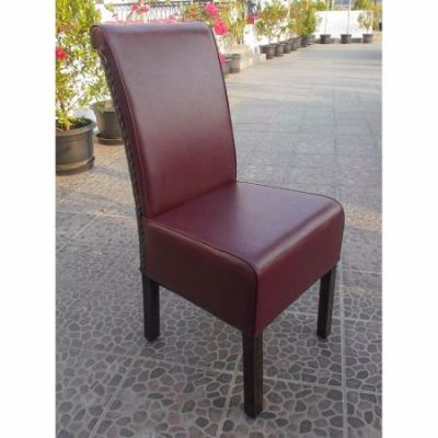 Upholstered Philip Dining Chair w/Faux Leather in Brown - SG-3342-1CH