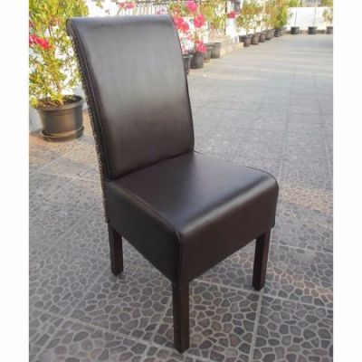 Hyacinth Spiral Weave Philip Dining Chair in Salak Brown - SG-3344-1CH