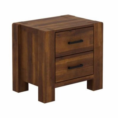 Larry 2-Drawer Side Table in Rustic Teak Finish - SR-80286-TK