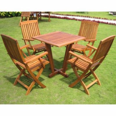 Royal Tahiti Gibraltar 5-Piece Dining Group in Stain - ST-015-FA-040-4CH