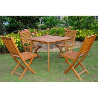 Royal Tahiti Mantalbo Set of Five Dining Group in Stain - ST-031-VN-0128-4CH