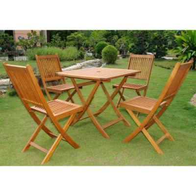 Royal Tahiti Alhamba 5-Piece Patio Set in Stain - ST-038-VN-0128-4CH
