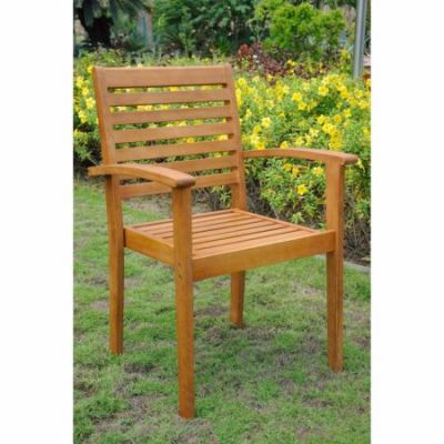 Royal Tahiti Set of 2 Contemporary Chairs in Brown Stain - TT-1B-043-2CH