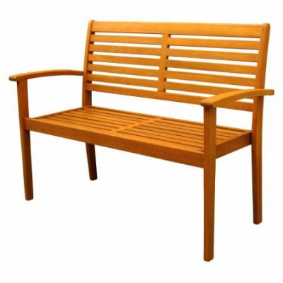 Royal Tahiti Oslo Outdoor Contemporary Bench in Brown Stain - TT-2B-043