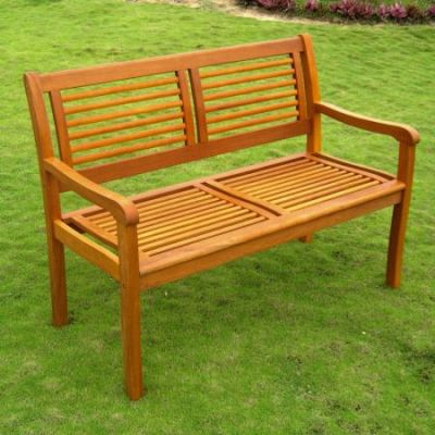 Royal Tahiti Bar Harbor Two Seat Bench in Brown Stain - TT-2B-052