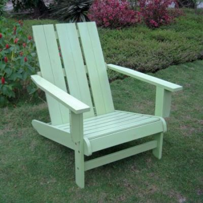 Acacia Large Square Back Adirondack Chair with Mint Green - TT-DC-022-MGN