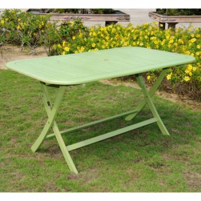 Acacia Rectangular Folding Table in Mint Green - TT-RE-054-MGN