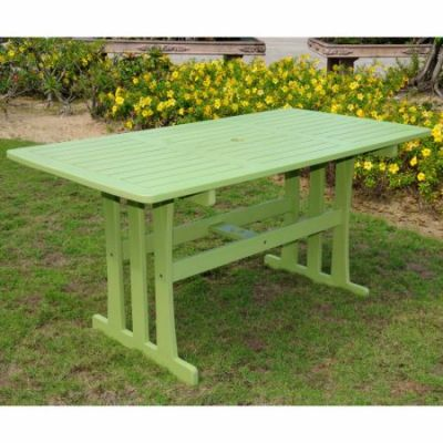Acacia Rectangular Dining Table in Mint Green - TT-RE-07-MGN