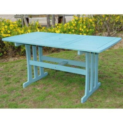 Acacia Rectangular Dining Table in Sky Blue - TT-RE-07-SKB