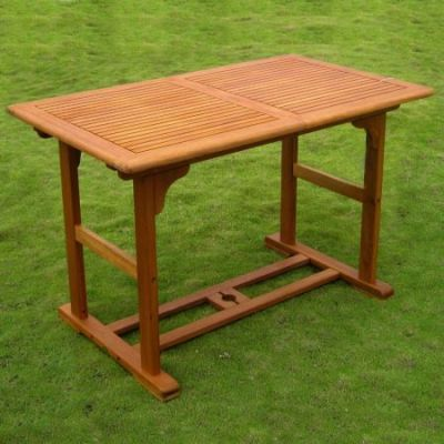 Royal Tahiti Butterfly Leaf Table in Brown Stain - TT-REE-124