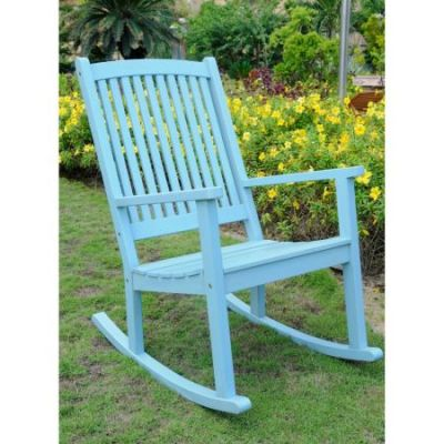 Acacia Large Rocking Chair in Sky Blue - TT-RO-03-SKB