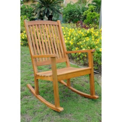 Acacia Large Rocking Chair in Rustic Brown - TT-RO-03-STN