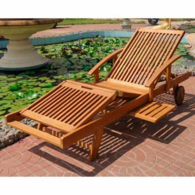 Royal Tahiti Chaise Lounge with Sectional Deck in Brown - TT-SL-012-A