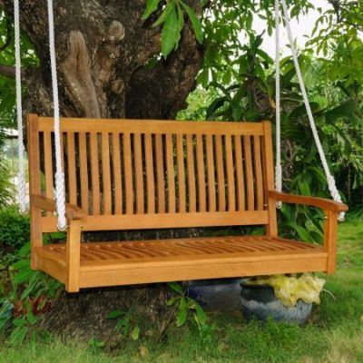 Royal Tahiti 48'' 2 Seated Swing in Brown Stain - TT-SW-007