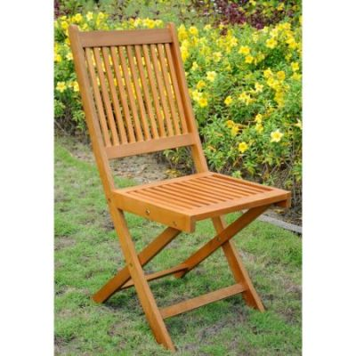 Royal Tahiti Set of 2 Folding Garden Chair in Brown Stain - TT-VN-0128-Chr