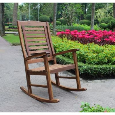 Acacia Trinidad Porch Rocker in Brown - VF-4109