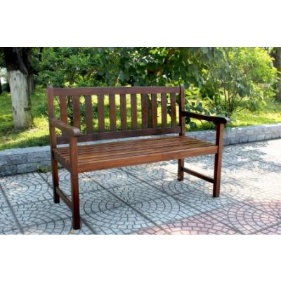 Outdoor 4 Foot Wood Bench in Brown - VF-4110-ST