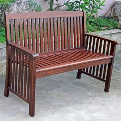 Highland Acacia Denver Two Seater Park Bench in Brown - VF-4308