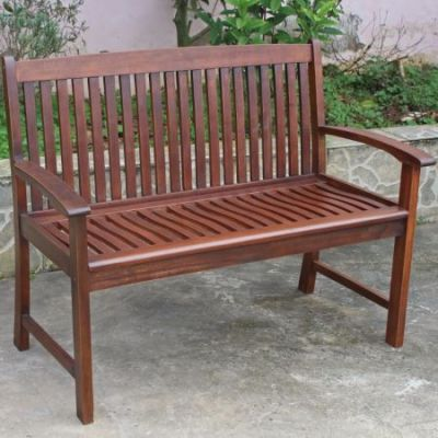 Highland Acacia Hudson Two Seater Park Bench in Brown - VF-4309