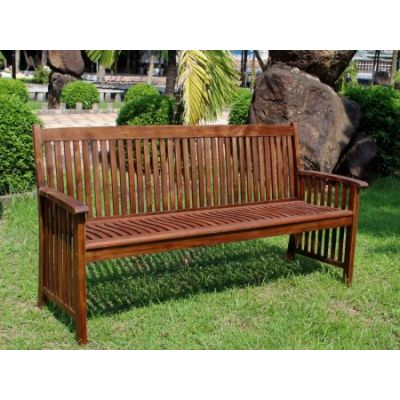 Highland Acacia Denver Three Seater Park Bench in Brown - VF-4408