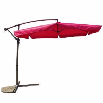 Aluminum Cantilever Hanging Umbrella in Cranberry - YF-1102-F-CB
