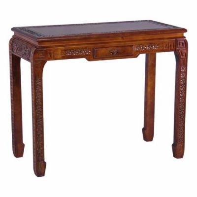 Windsor One Drawer Ming Console Table in Stain - ZM-3816-ST