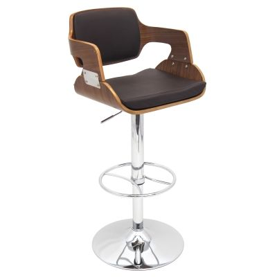 Fiore Barstool in Walnut Brown - BS-JY-FR-WAL-BN