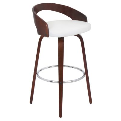 Grotto Barstool in Cherry White - BS-JY-GRT-CH-W