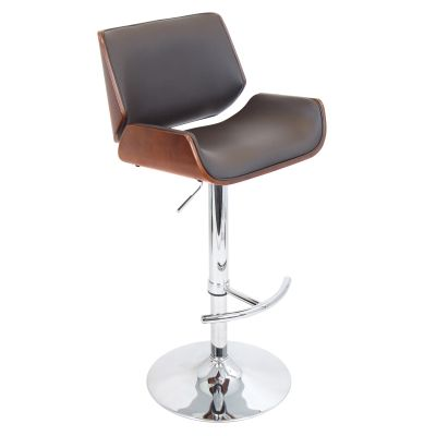 Santi Bar Stool In Cherry And Brown Matte Polyurethane - BS-JY-SNT-CH-BN